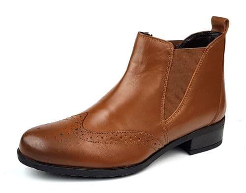 Comfort Plus - Chelsea A0333 Tan Ladies Boots